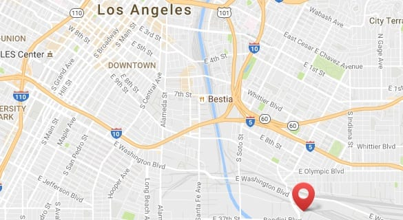 Targray biodiesel supplier location in Vernon (Los Angeles)