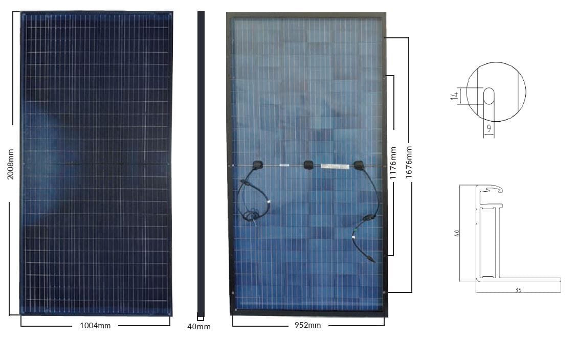 All Black Bifacial Solar Panel