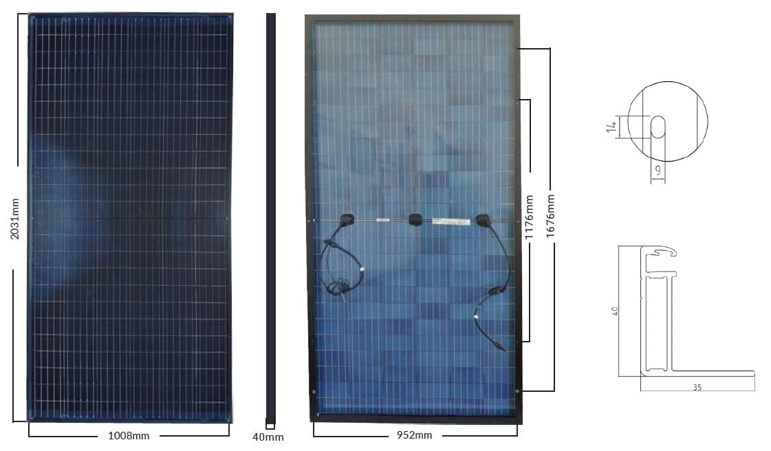 Black Transparent Bifacial Solar Panel